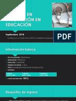 Maestría en Innovación en Educación