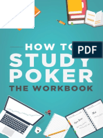 How to Study Poker Volume 1 the Workbook