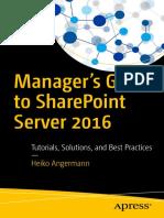SharePoint Server 2016 Managing