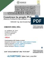 """Presentación del Taller """"Construye tu propio PLE"""" - SOMECE 2018"""