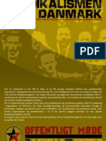 Plakat for møde om Syndikalismen i Danmark - LS-Aalborg