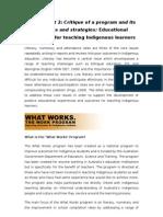 Educational Strategies for Teaching Indigenous Learners
