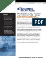 Tripwire CCM Policies and Platform Support 2015Q4 Datasheet