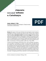Els Moviments Socials Urbans a Catalunya