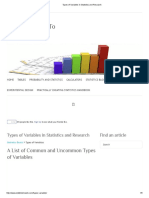 Types of Variables in Statistics and Research