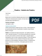 (Web) História Brasileira. Caminho Do Peabiru