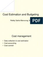 Costs Estimating and Budgeting