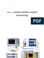 Non invasive cardiac output monitoring