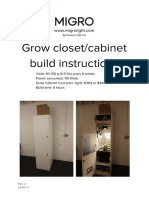 Grow Closet Cabinet Build Instructions