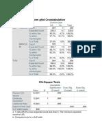 Analiza Statistica Chi-square