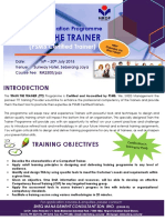 Train the Trainer (16 -20 July 2018 at Sunway Hotel, Seberang Jaya) - PSMB Certification Programme