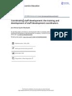 Coordinating Staff Development the Training and Development of Staff Development Coordinators