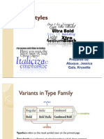 Type Styles