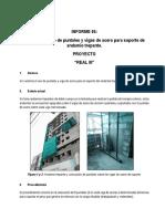 Informe de Produccion 05 - Soporte de Andamio Trepante
