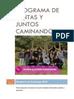 """Programa """"juntas y juntos  caminando"""" Sociología 2018"""