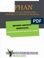 Questões Fundamentos Preservação Patrimônio Cultural IPHAN