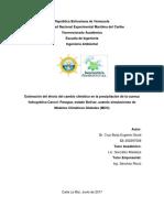 Efecto del cambio climático en la precipitación de la cuenca hidrográfica Caroní- Paragua