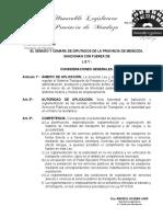 Texto Definitivo Ley de Movilidad Mendoza