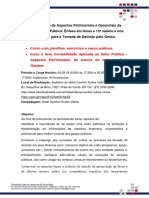Folder Curso Contabilidade Pública Gerencial e Aspectos Patrimoniais