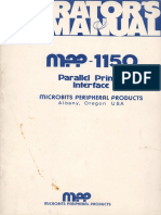 MPP 1150 Parallel Printer Operators Manual