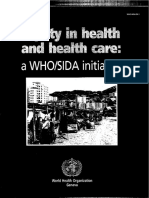 WHO_Equity in Health Care