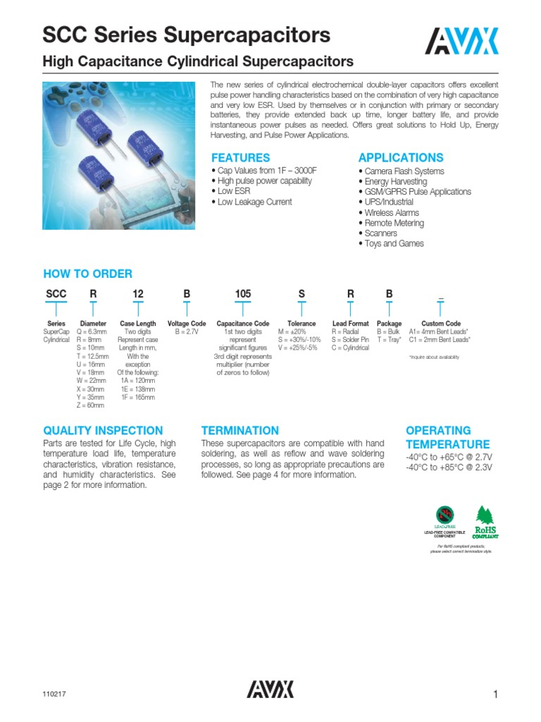 AVX-SCC-1018831 | Capacitor | Electromagnetism