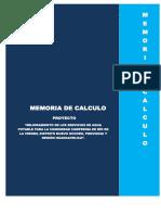 Memoria de Calculo Hidraulico