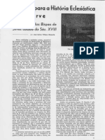 Subsídios Para a História Eclesiástica Do Algarve