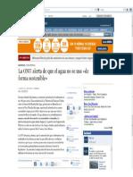 La ONU alerta de que el agua no se usa de forma sostenible (ABC, 13-03-12, Francia)