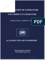 Appreciation of Literature and American Literature