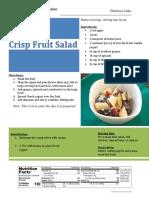 crisp fruit salad - meal kit
