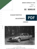 Citroen CX Manual Series 1 Volume 1.CV