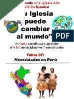 Taller 7 Necesidades en Peru