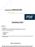 Research Core Lecture (1)