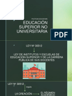 Educación Superior No Universitaria