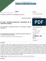 El texto científico-profesional