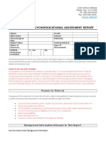 psychoed assessment template - selpa