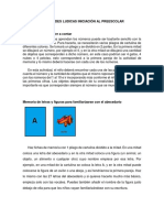 ACTIVIDADES LUDICAS DE INICIACIÓN AL PRESCOLAR