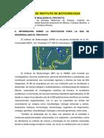 Información de Instituto de Biotecnologia