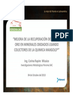 08 Mejora de la Recuperación de Au y Cu en Minerales Oxidados usando Colectores de la Quimica MAXGOLD - Corina Rupire [Mo~1