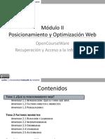 Posicionamiento y Optimización Web