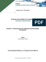 U3. Transformaciones Integrales (Transformadas de Laplace)