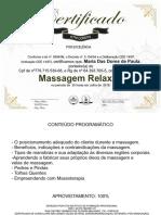 certificado de massagem relaxante
