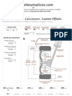Tamaño de La Rueda _ Calculadora de Neumático - Desplazamiento Personalizado - LlantasNeumáticos