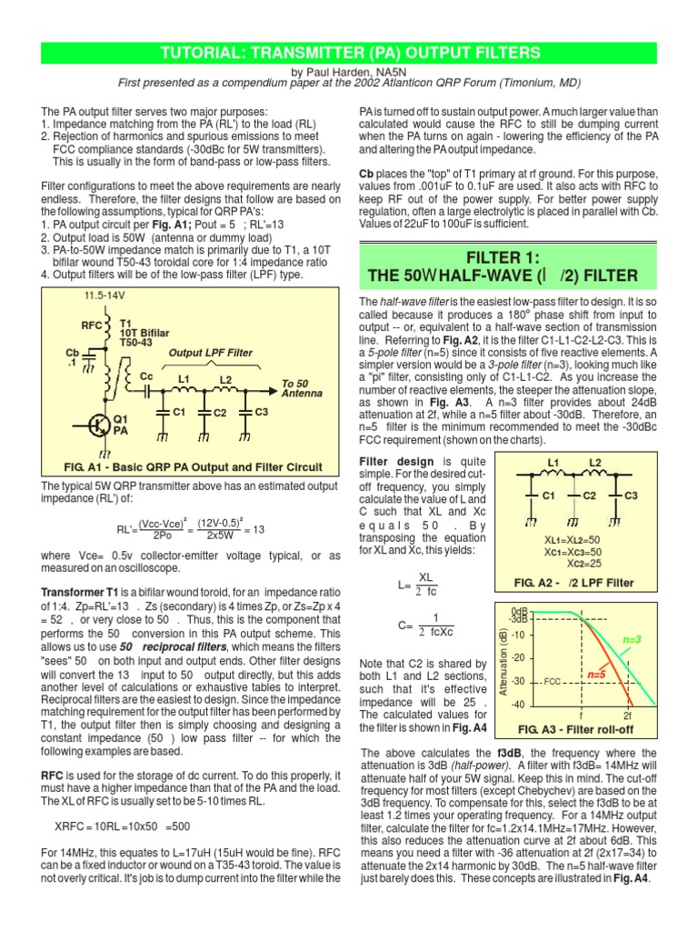 _lpf_pa pdf | Electronic Filter | Low Pass Filter