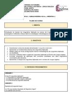 4º Período - Plano de Curso - Linguística Aplicada I.pdf