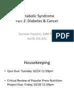 Metabolic Syndrome & Diabetes_2017