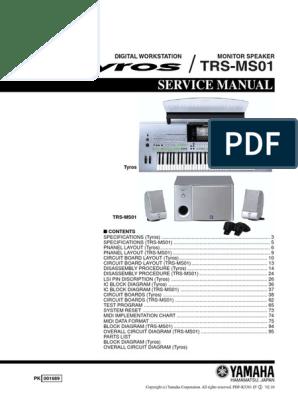 Yamaha Tyros Trs-ms01 | Loudspeaker | Synthesizer