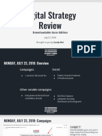 Digital Strategy Review 7/27/18