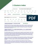 Consonant Clusters Index